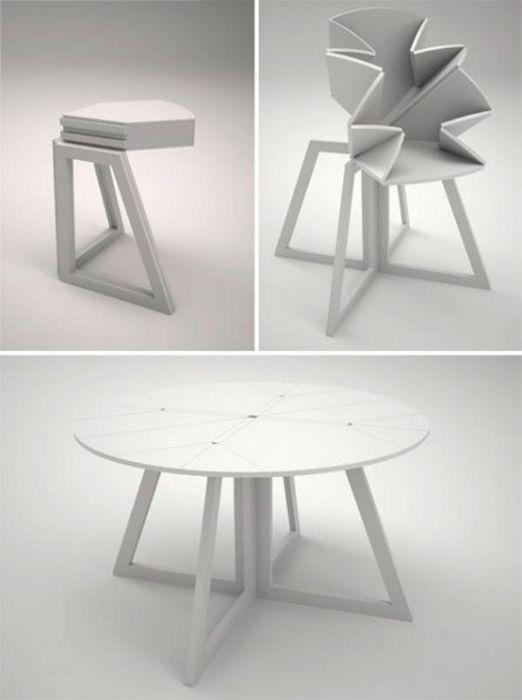 14 Столов-трансформеров, которые помогут сэкономить много места