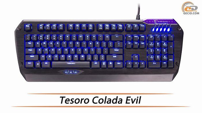 Геймерская клавиатура tesoro colada saint: стильно, практично, надежно