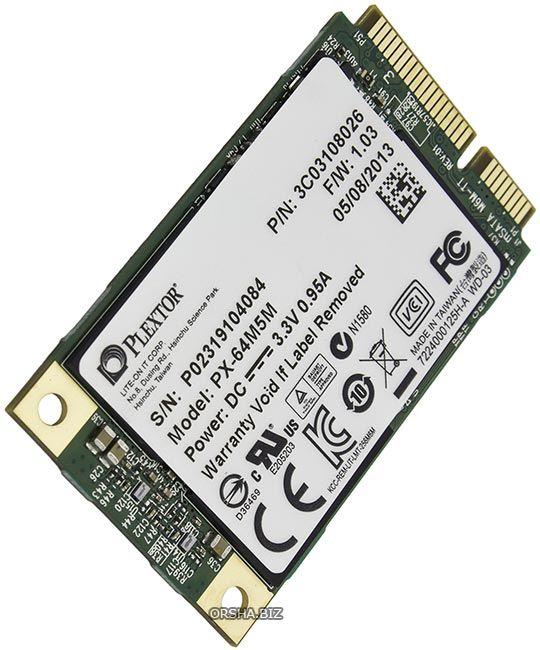 Plextor px-64m5m – небольшой ssd формата msata