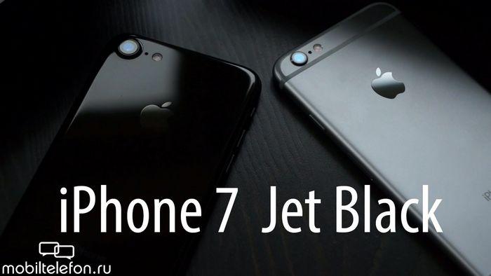 Распаковка iphone 7 jet black, проверка на шум и сравнение с iphone 6s